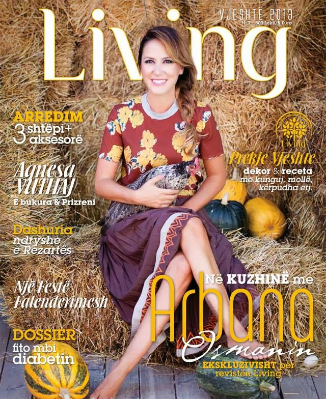 """Arbana Osmani ne kopertinen e Revistes """"Living"""""""