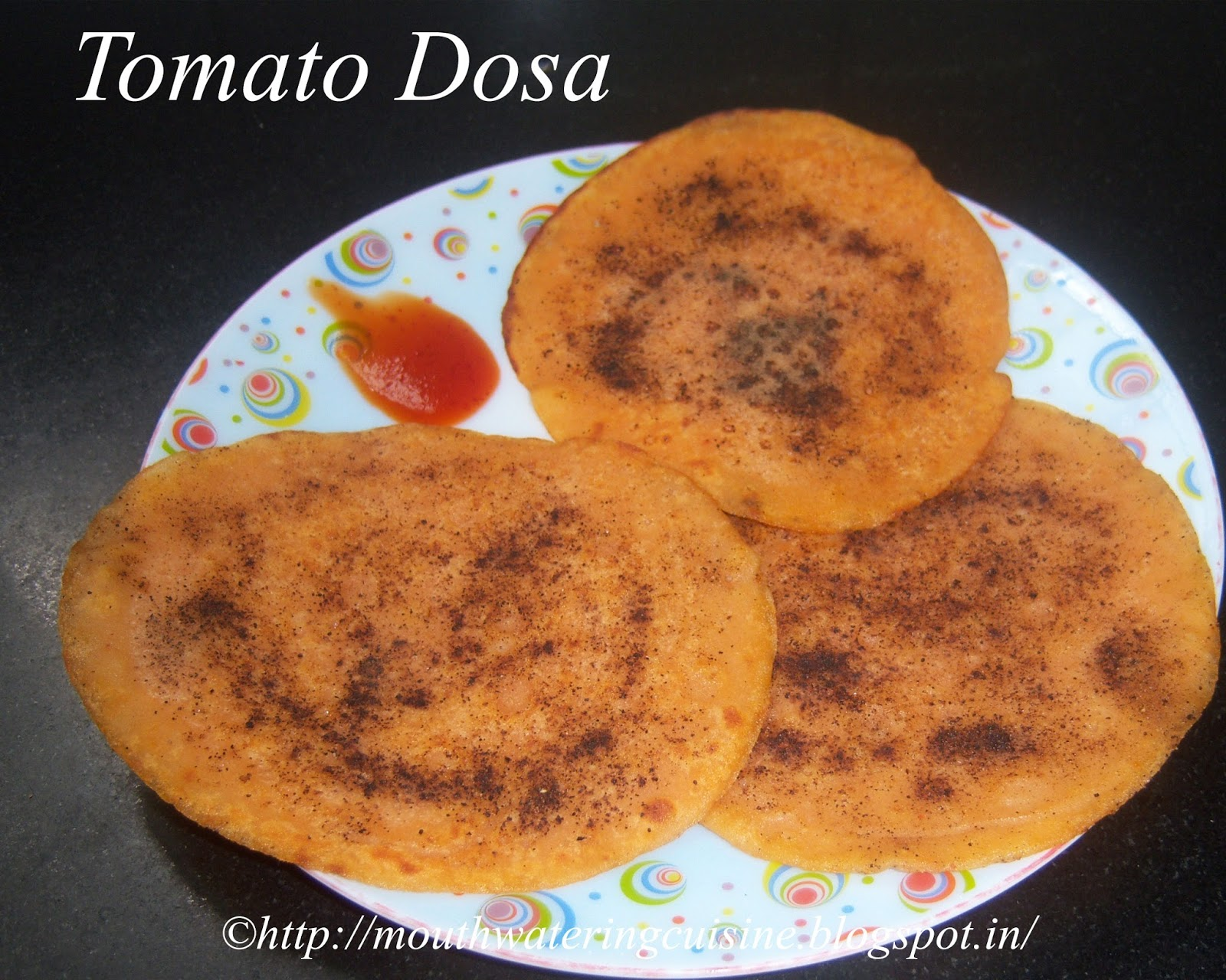 Tomato Dosa Recipe -- How to make Dosa with Tomato Juice ...