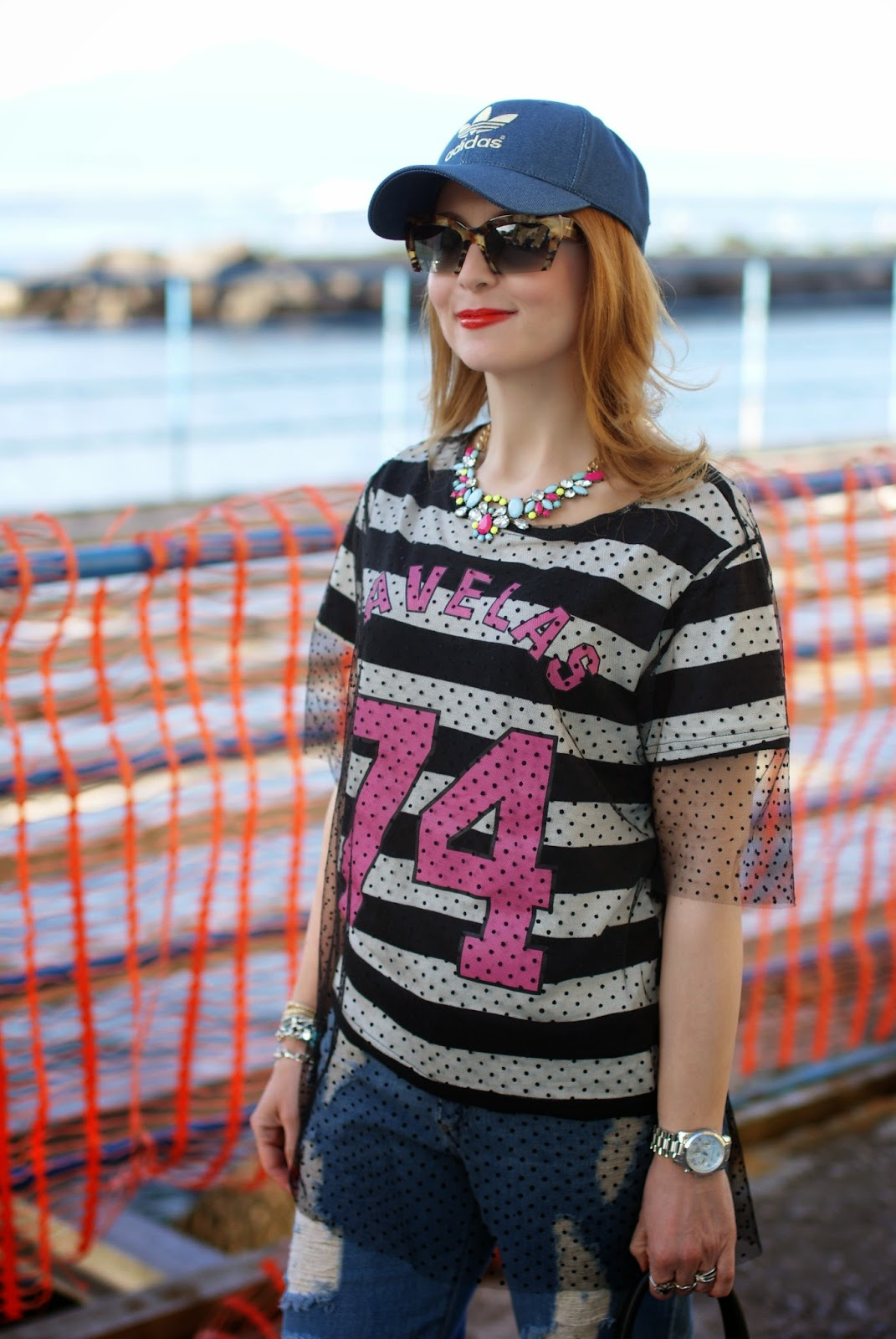 Kilibbi t-shirt, tulle on t.shirt, baseball cap, Fashion and Cookies, fashion blogger