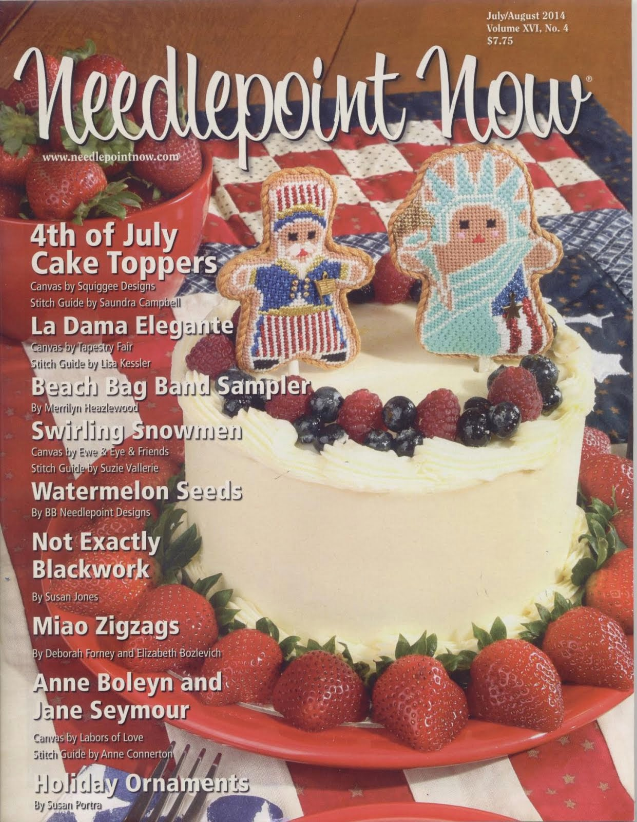 July/August Needlepoint Now 2014 Cover