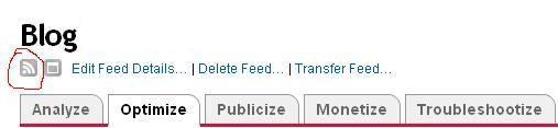 feedburner feed icon
