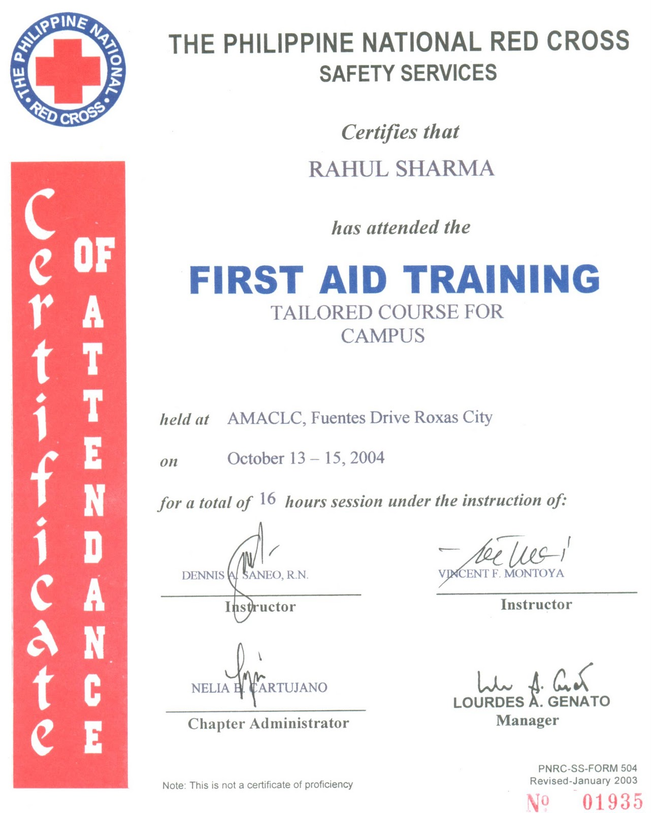 philippine red cross standard first aid manual