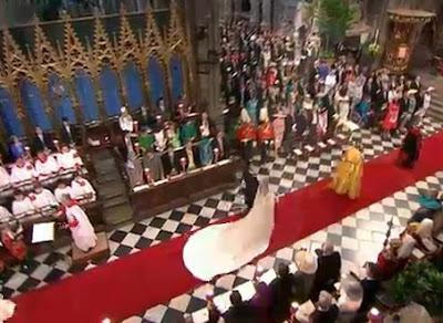 en el templo matrimonio real