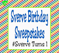 Sverve Birthday Sweepstakes! Happy Birthday! #SverveTurns1