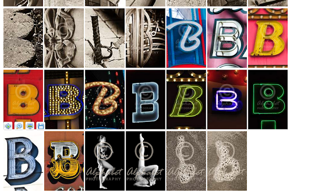 letter b color photo options