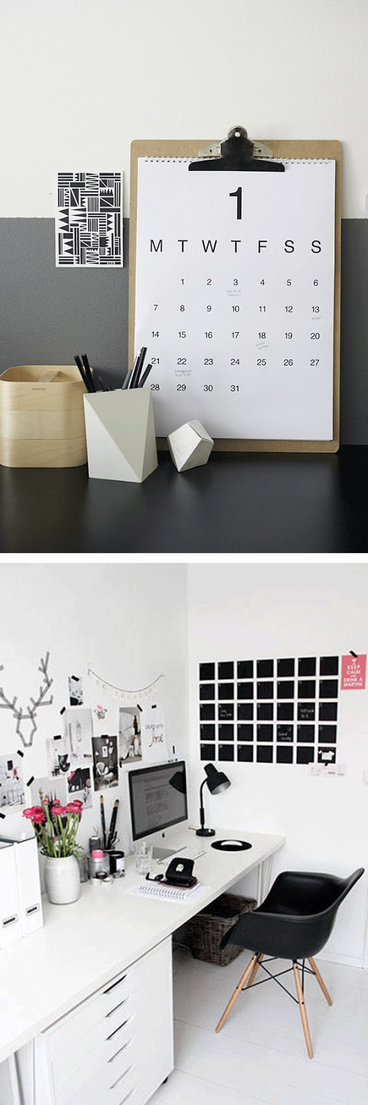 calendario da tavolo - calendario wall decor - interior design styling