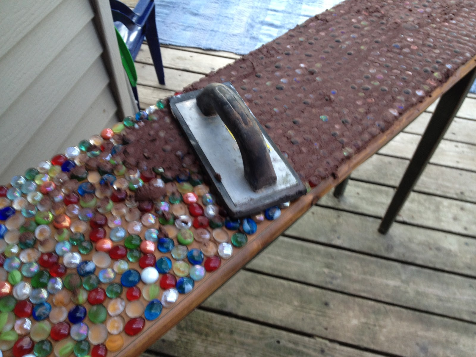 Junk Mail Gems: DIY Marble Mosaic Table Top