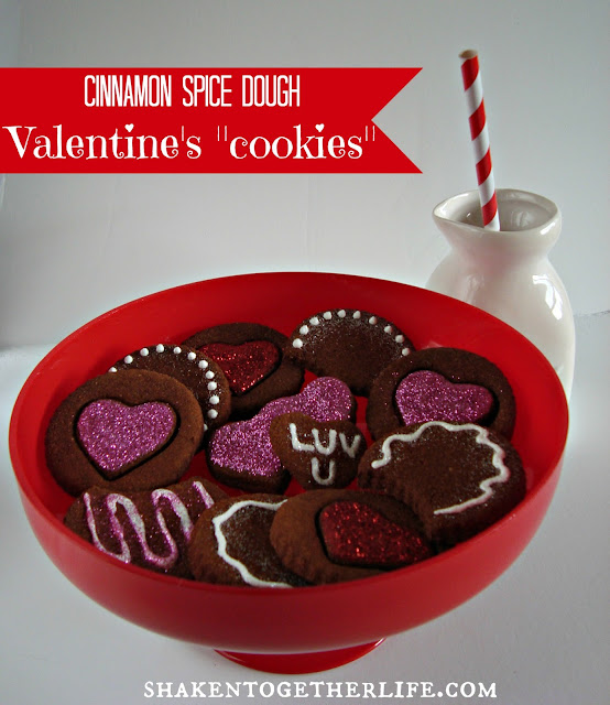 cinnamon spice dough Valentine's &quot;cookies&quot; - perfect for decorating &amp; gift giving