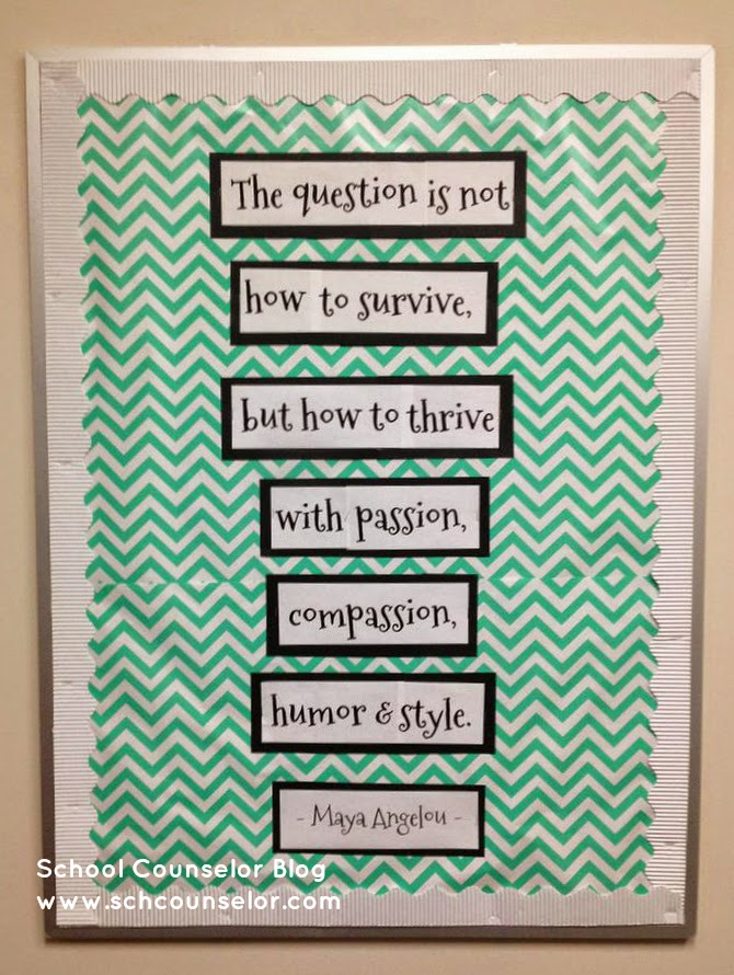 school counselor blog maya angelou thrive quote