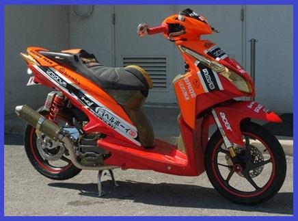 Techno CBS Gaya Racing Elegan Gambar Foto Modifikasi Motor Terbaru. title=