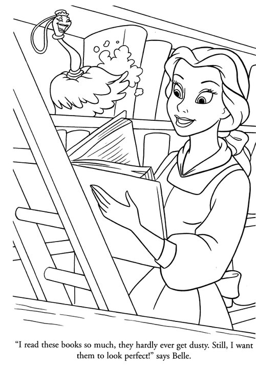 Disney Princesses Belle Coloring