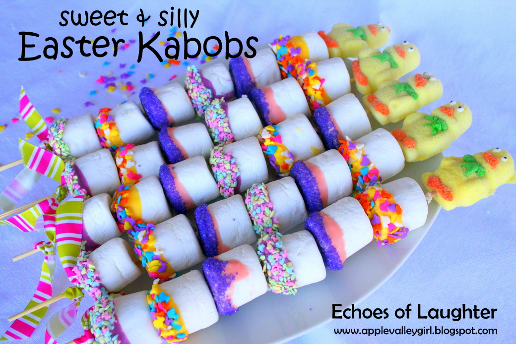 Marshmallow kabobs for easter echoes of laughter negle Image collections