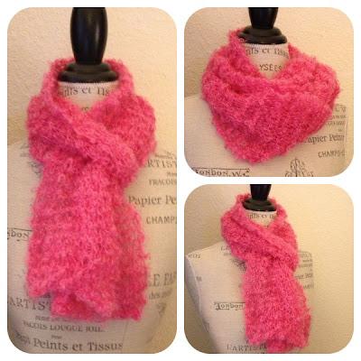 Knitting Blog: Be Sweet Boucle One-Skein Scarf Free Knitting Pattern