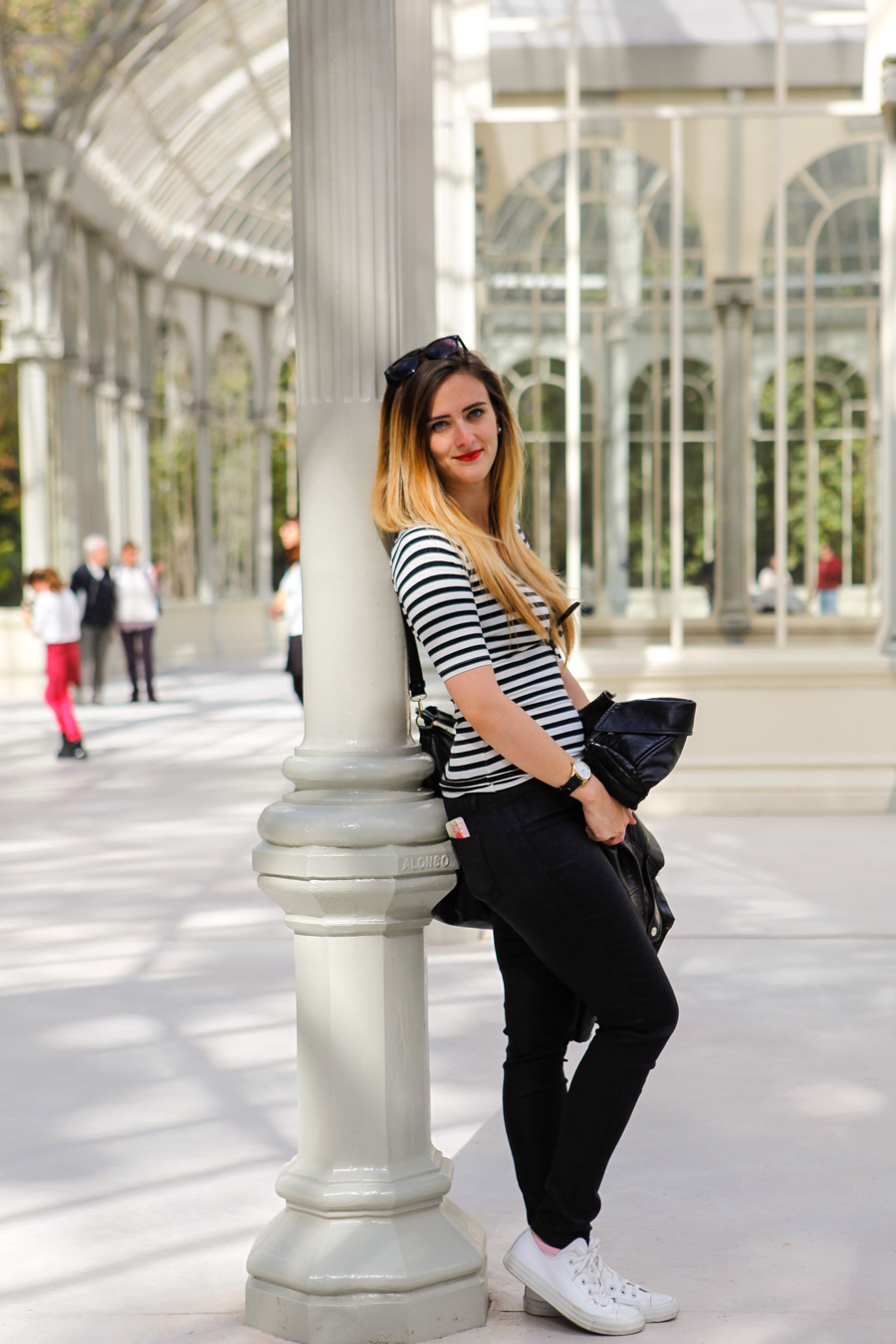 Levitate Style, Levitate Travel, His & Her, Stripes, Leo Chan, Alicia Mara, menswear, Madrid Spain Travel