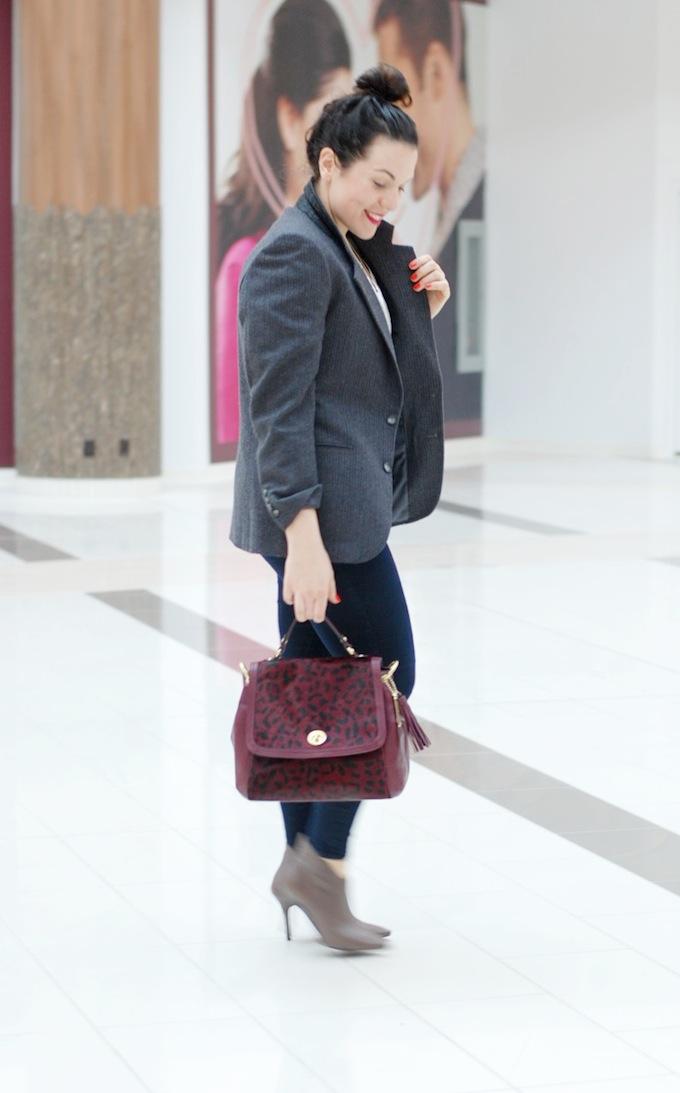 Vintage men's blazer Vancouver fashion blogger Aleesha Harris of Covet and Acquire