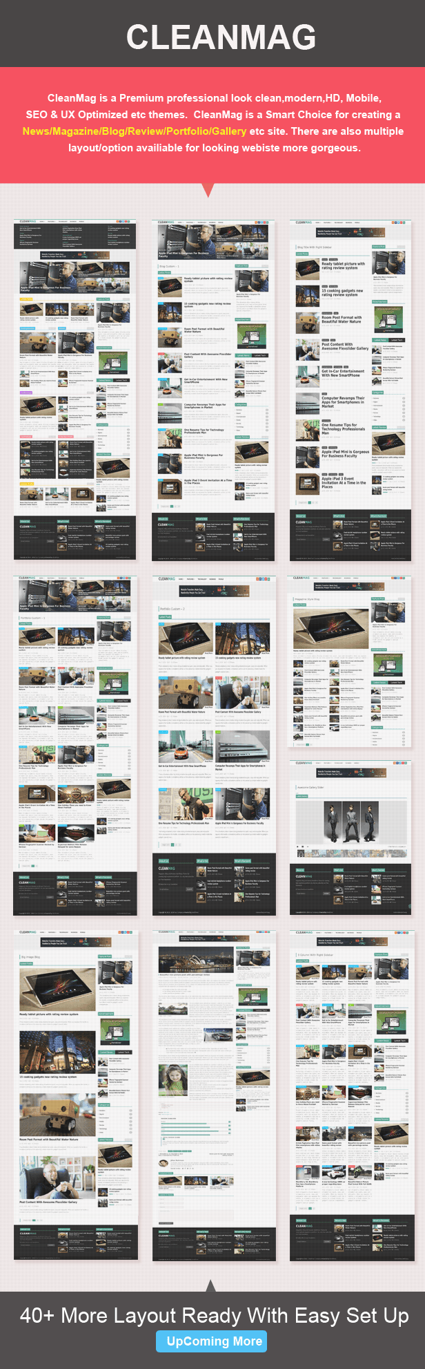 a wordpress magazine theme layout