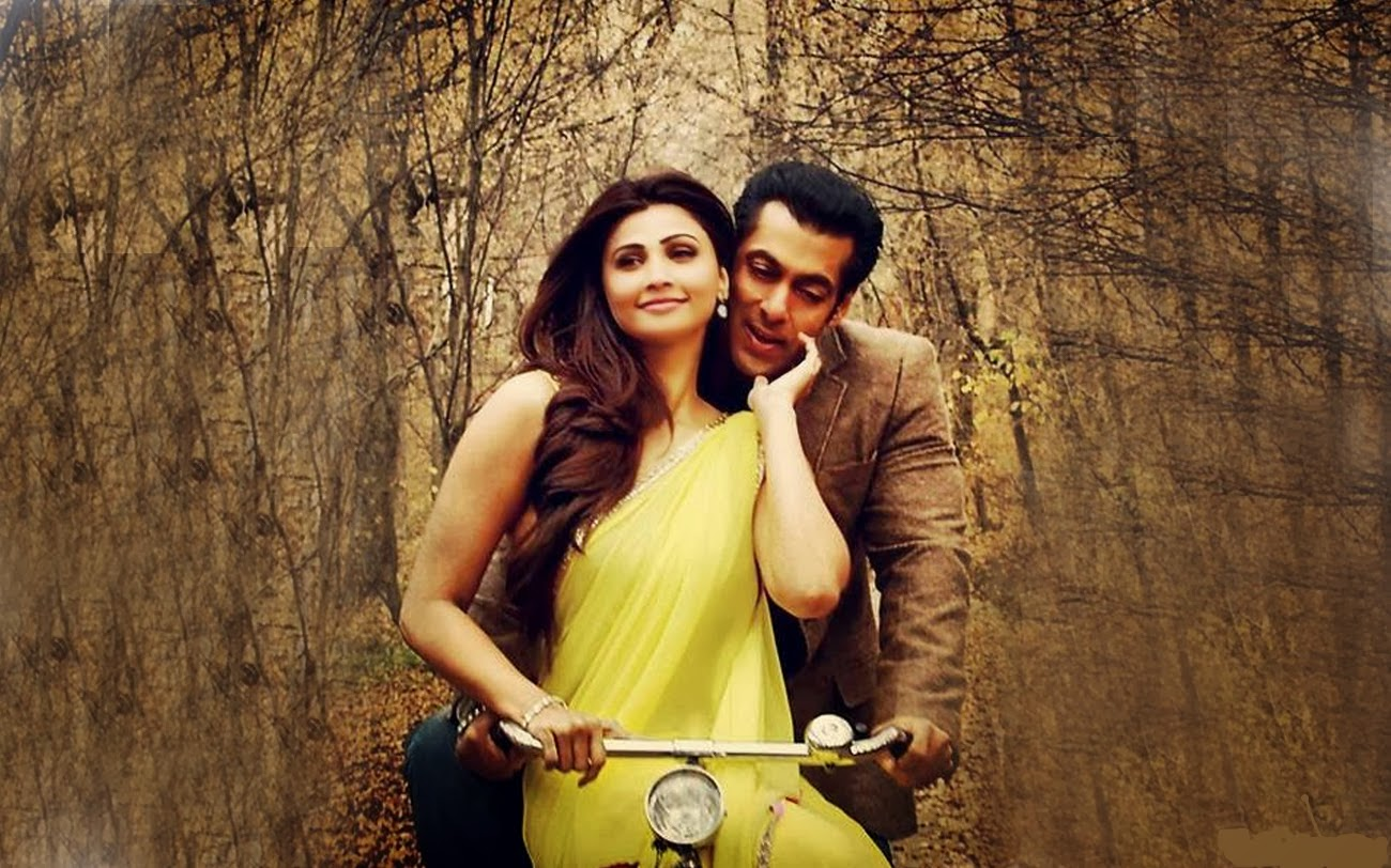 Salman Khan with Daisy Shan in Jai Ho Movie Wallpapers