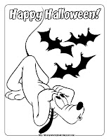 halloween coloring pages pluto with bats