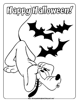 Pluto Halloween Coloring Pages