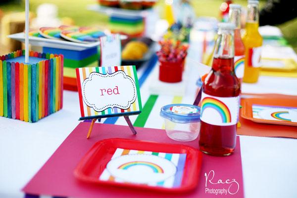 Sheek Shindigs A Rainbow Themed Party