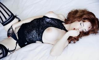 girl masturbating in lingerie