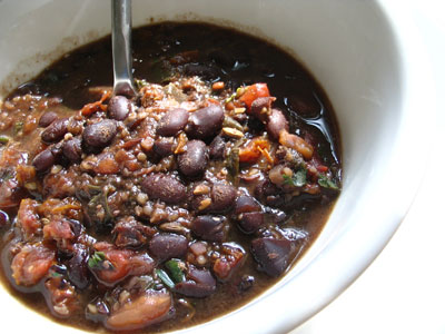 Indian-Style Smoky Black Bean Chili
