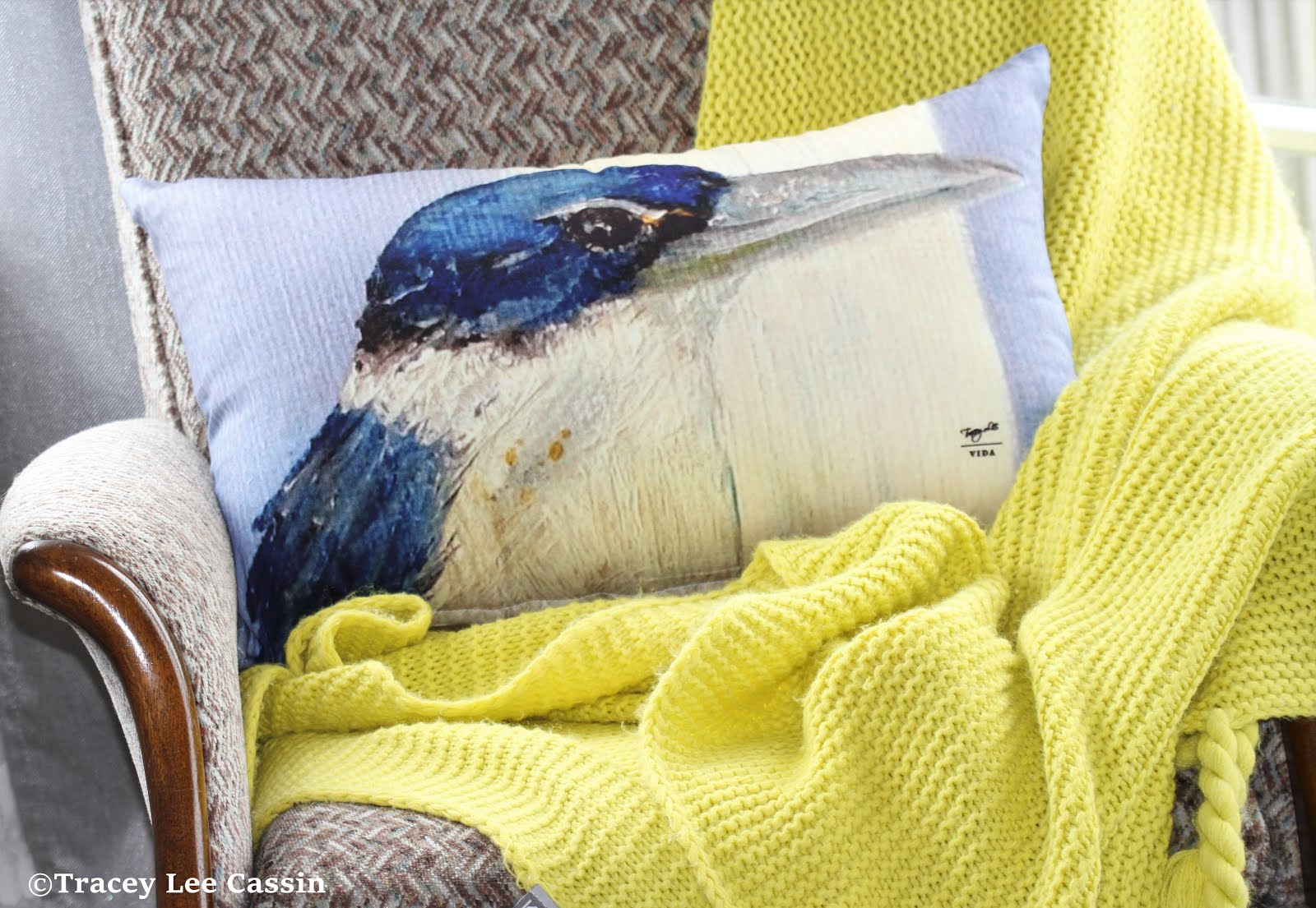 Kingfisher Blues Decor Pillow