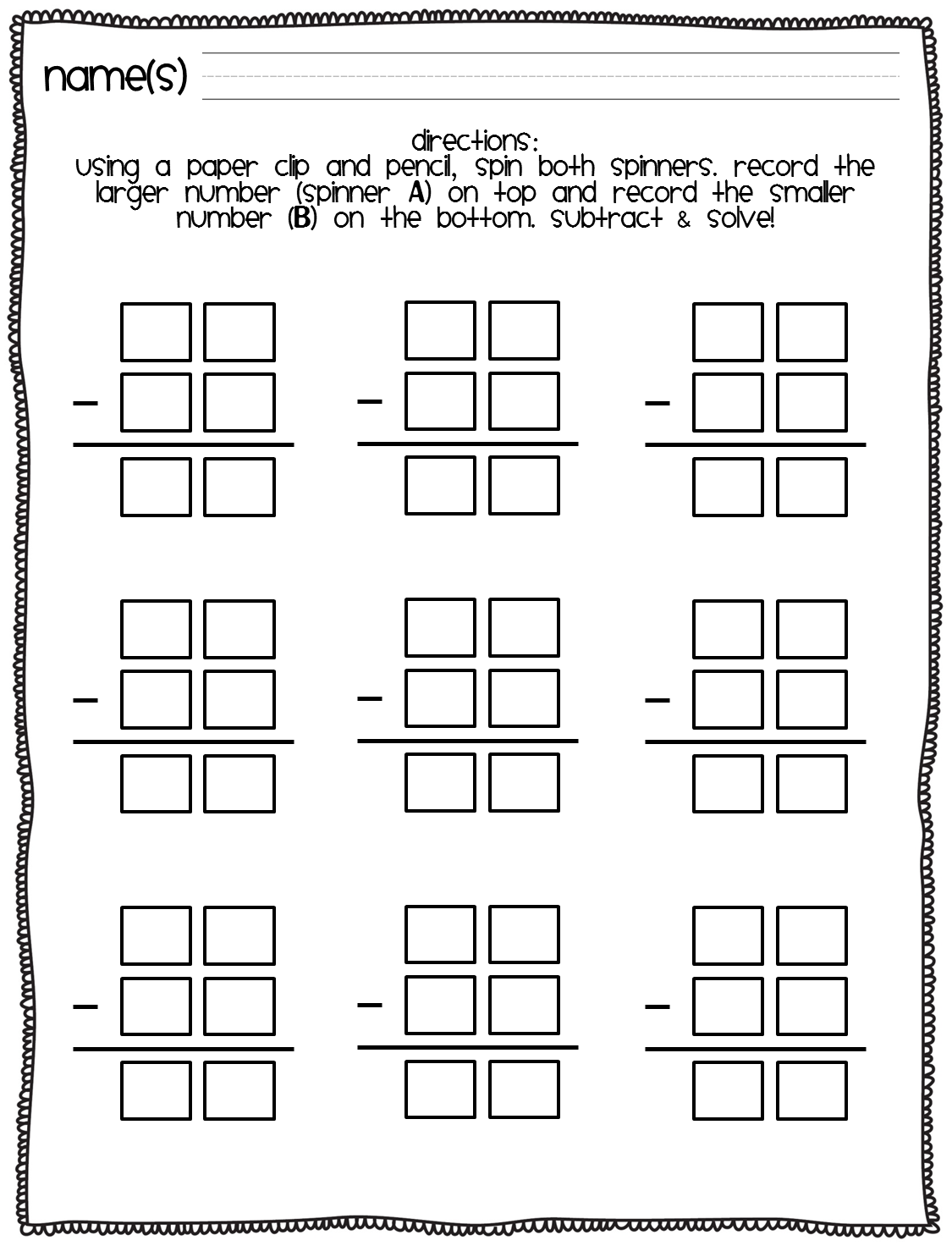 Subtraction freebie! - Thank God It's First Grade!