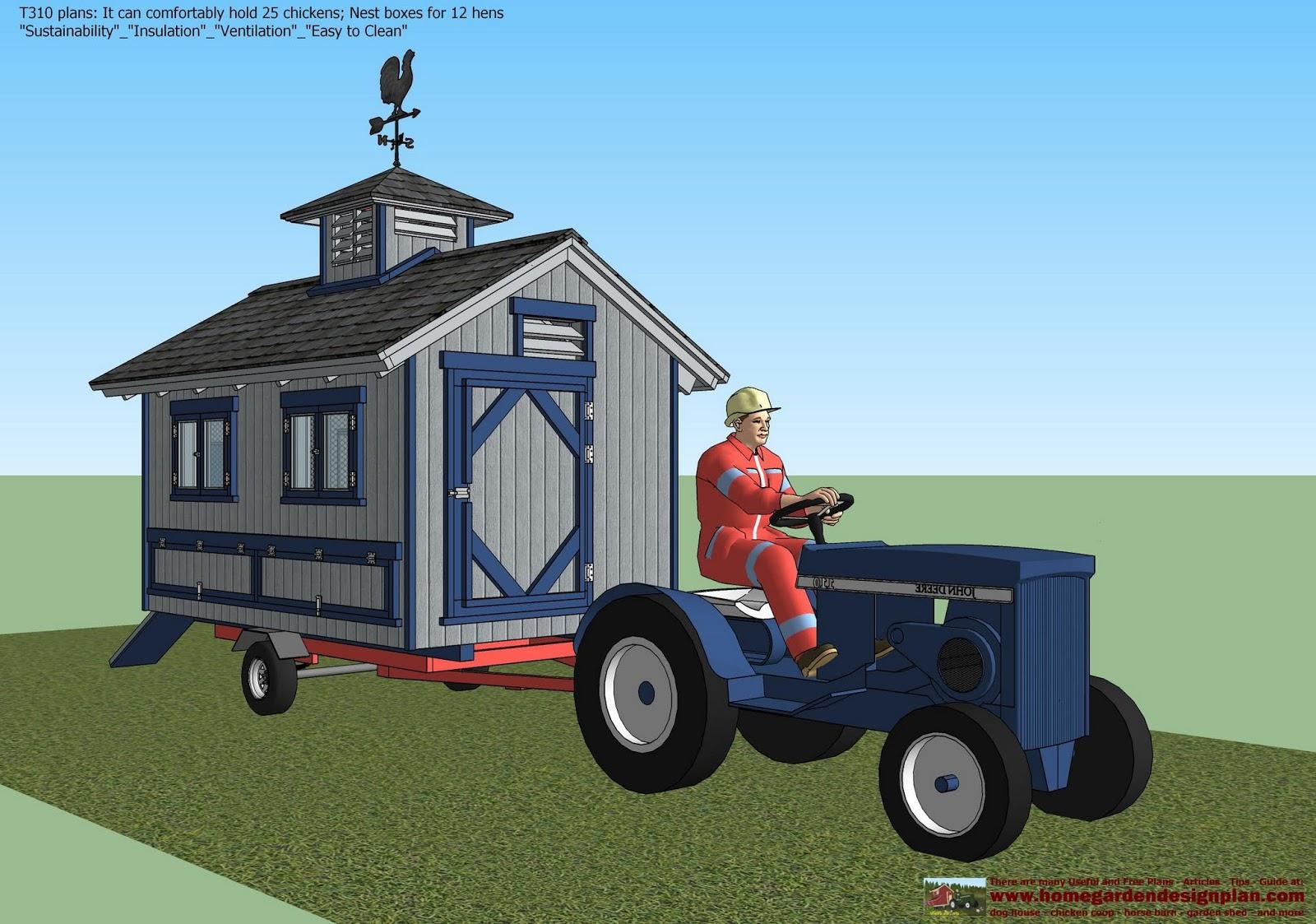 Home garden plans t310 chicken trailer plans for Garden design trailer