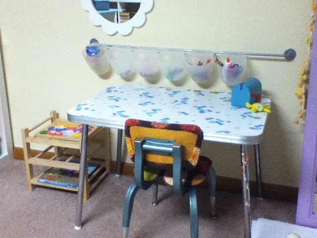 this is olivias little table when were not doing preschool time she uses it for coloring and other activities during preschool we use it for writing