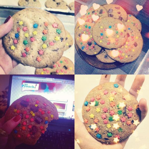 Receita cookies decorados de chocolate