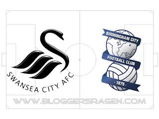 Pertandingan Birmingham City vs Swansea City