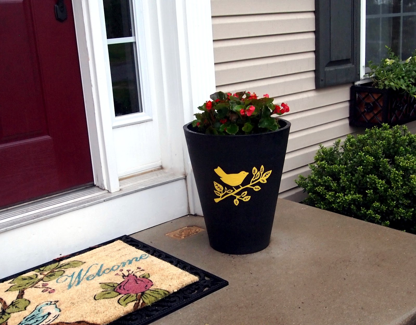 Loveyourroom diy stencil an outdoor planter diy stencil an outdoor planter workwithnaturefo