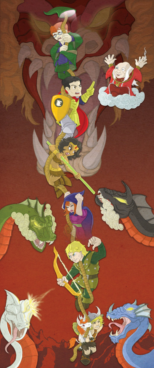 D is for Dungeons and Dragons por happymonkeyshoes