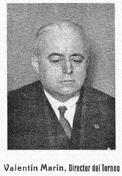 Valentín Martín, Director del I Torneo Internacional de Ajedrez de Sitges 1934