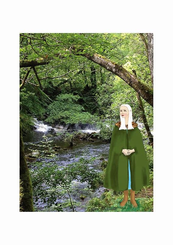 elf illustration lou endicott forest etsy one two carabou