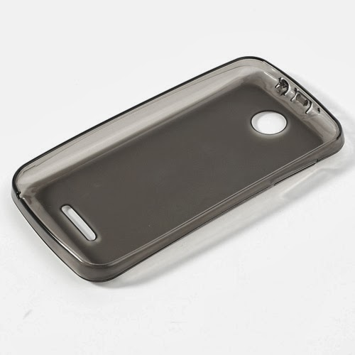 Pudding TPU Jelly Case Cover Protector for Lenovo A390 - Grey