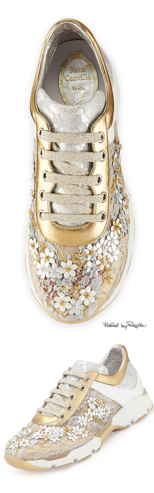 Desejo do dia - Ténis dourados sneakers René Caovilla verão  2015