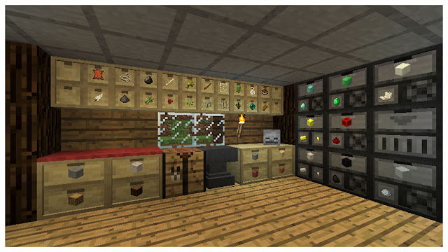 Storage Drawers Mod 1.8.8