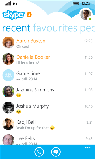 Skype for Windows Phone 8.1
