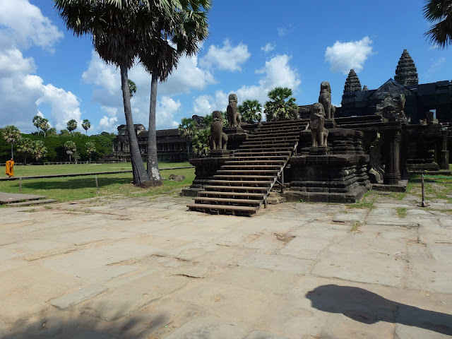 The grounds of Angkor Wat in Siem Reap Cambodia