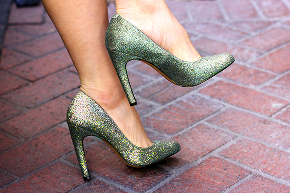 Sole Society Golden Sparkle Pumps