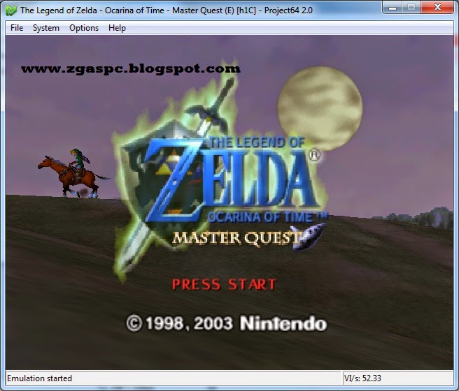 The Legend Of ZELDA Of Time Master Quest Nitendo 64 ISO
