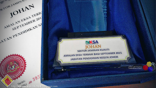 Amalan EKSA Terbaik JPN Johor Keputusan September 2015