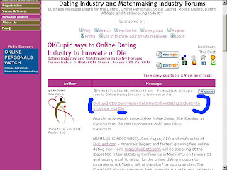 New dating sites 2008