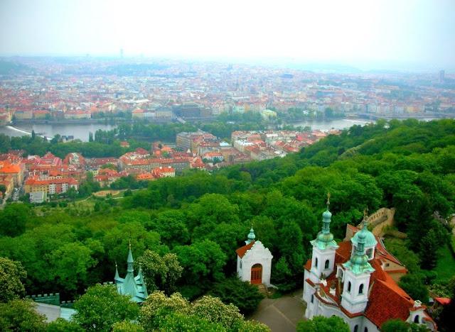 overlooking prague, czech republic