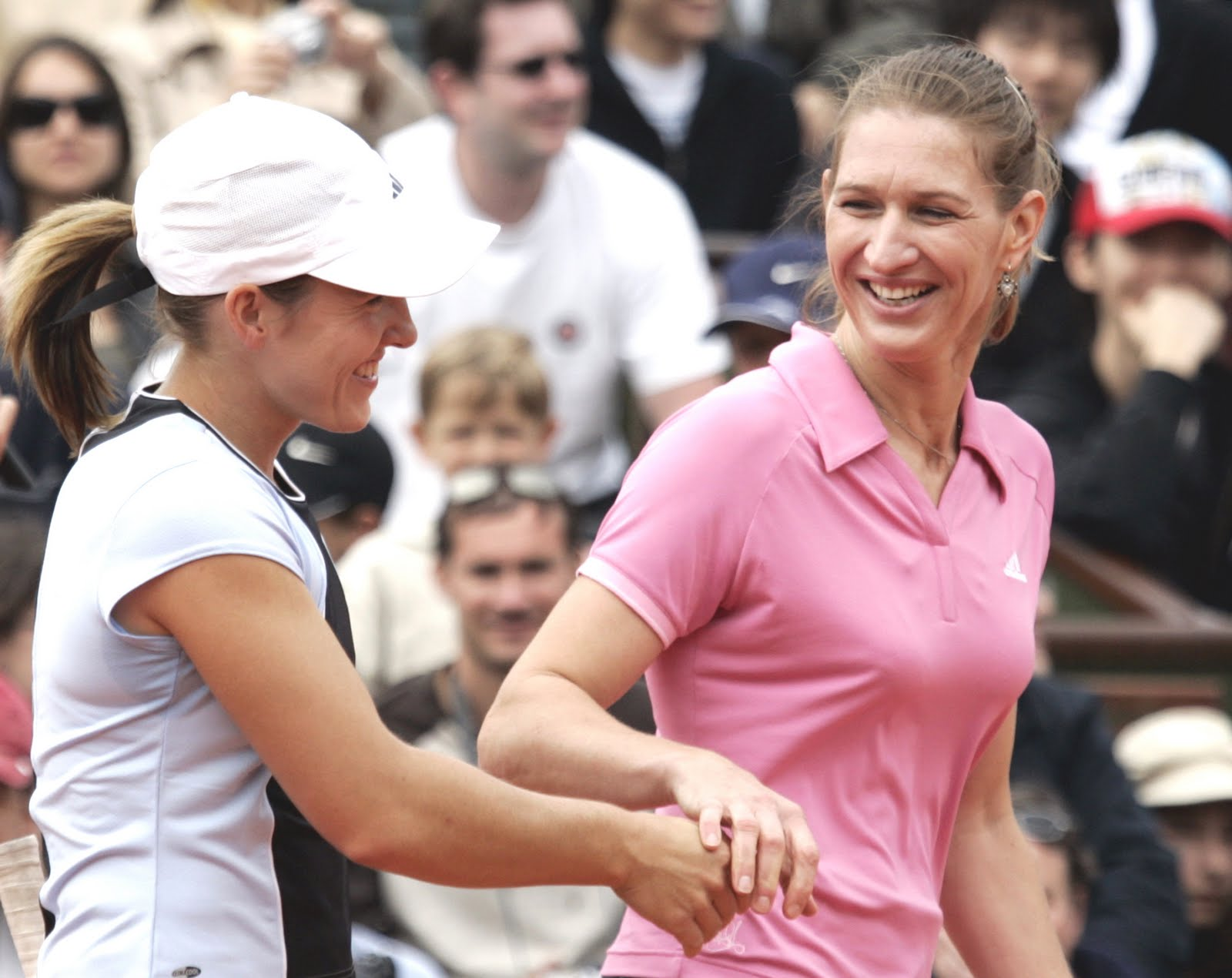 Henin is a big fan of Steffi Graf