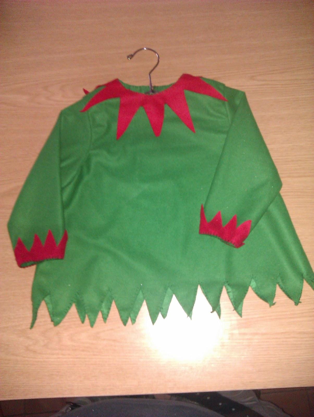 El taller de costura de mj traje de duende navide o - Traje de duende para nino ...
