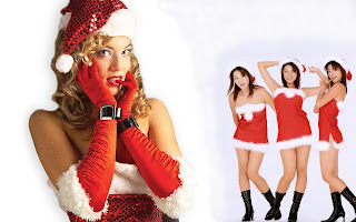 Free Download Christmas Pretty Girl Wallpaper