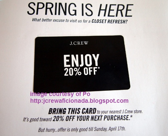 picture about J Crew Factory Printable Coupons named j group 20 off coupon catalog codes